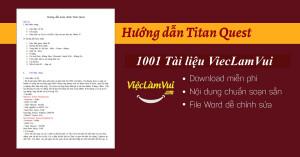 Hướng dẫn Titan Quest PDF