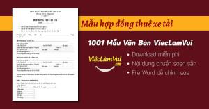Mẫu hợp đồng thuê xe tải file Word