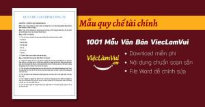 Mẫu quy chế tài chính file Word