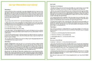 Bài tập tình huống luật dân sự PDF