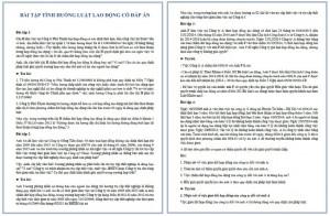 Bài tập tình huống luật lao động có đáp án PDF
