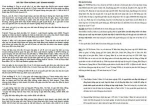 Bài tập tình huống luật doanh nghiệp có đáp án PDF