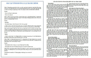 Bài tập tình huống luật hành chính có đáp án PDF