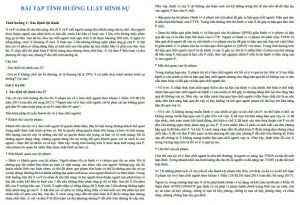Bài tập tình huống luật hình sự có đáp án PDF