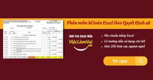 Phần mềm kế toán Excel theo Quyết Định 48