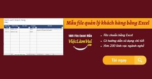 Mẫu file quản lý khách hàng bằng Excel