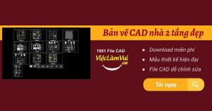 Download bản vẽ CAD nhà 2 tầng miễn phí