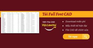Tải Full Font CAD - Bộ Font chữ đầy đủ cho Autocad