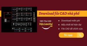 Download file CAD nhà phố - Thư viện CAD nhà phố các loại