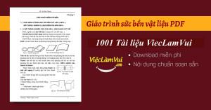 Giáo trình sức bền vật liệu PDF