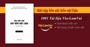 Bài tập lớn sức bền vật liệu PDF