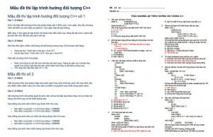 Đề thi lập trình hướng đối tượng C++ PDF
