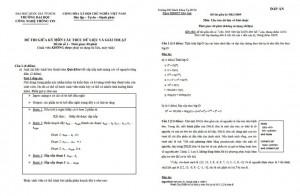 Đề thi cấu trúc dữ liệu và giải thuật có lời giải PDF