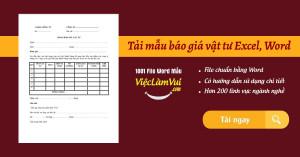 Tải mẫu báo giá vật tư Excel, Word