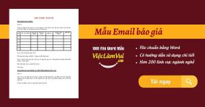 Mẫu Email báo giá gửi khách hàng