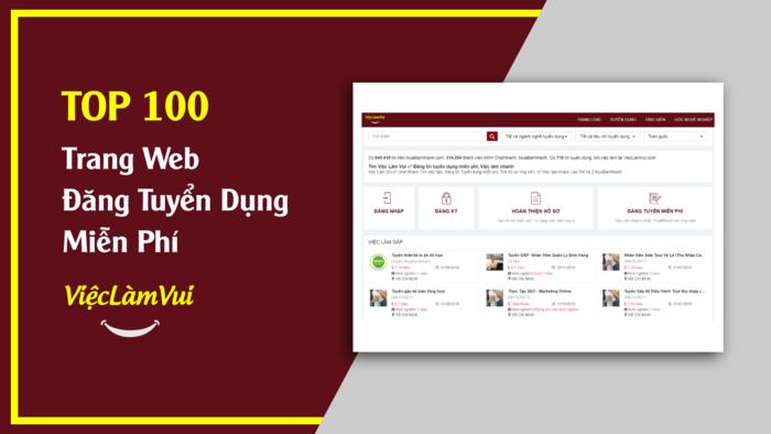 TOP 100 trang web tuyển dụng miễn phí