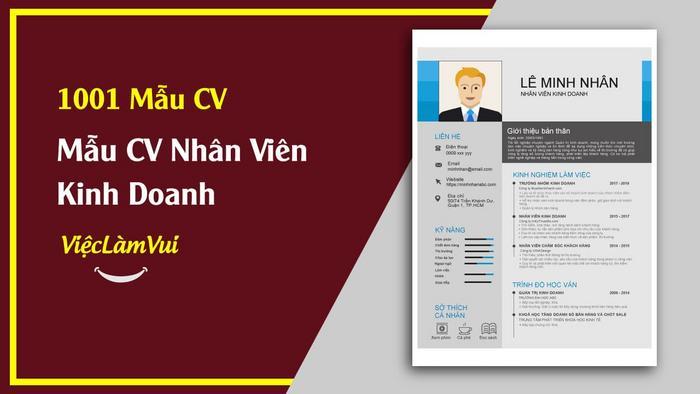 Mẫu cv xin việc nhân viên kinh doanh vieclamvui