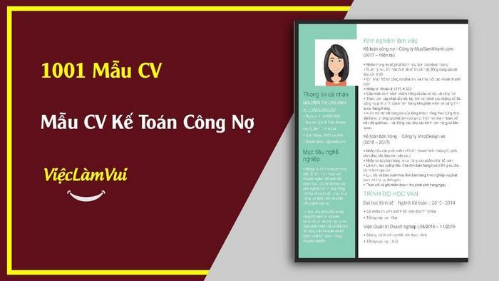 Mẫu CV Kế toán công nợ - 1001 Mẫu CV ViecLamVui