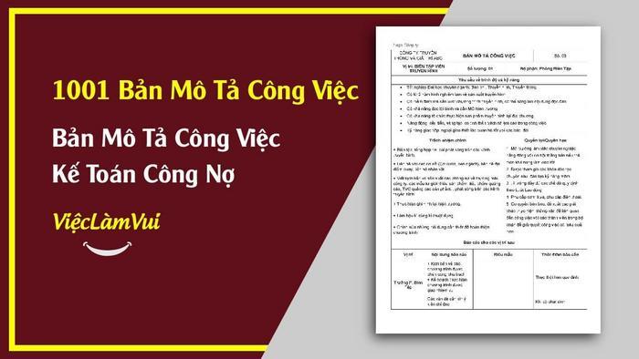 Mẫu bản mô tả công việc kế toán công nợ - 1001 Bản mô tả công việc ViecLamVui