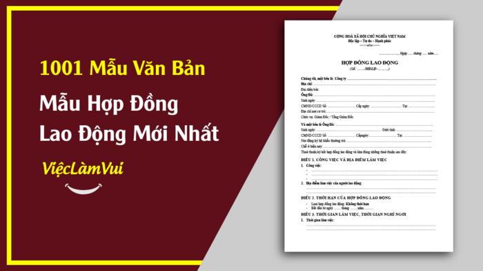 Mẫu hợp đồng lao động - Mẫu văn bản ViecLamVui