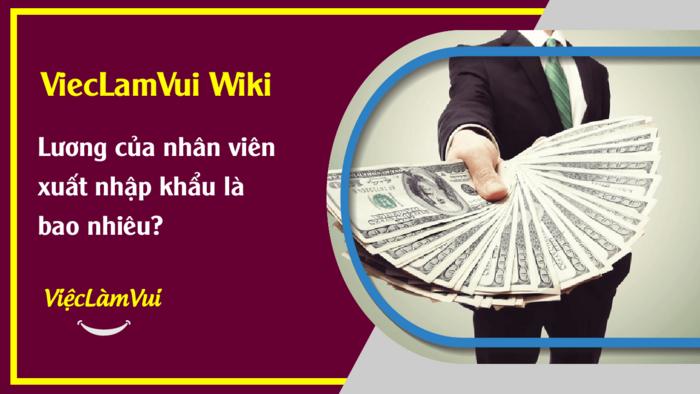 Lương của nhân viên xuất nhập khẩu là bao nhiêu? ViecLamVui Wiki