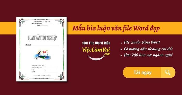 Mẫu bìa luận văn - ViecLamVui