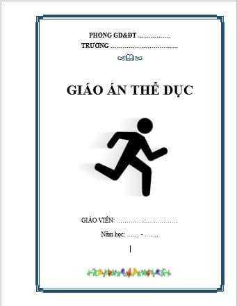 Mẫu bìa giáo án thể dục