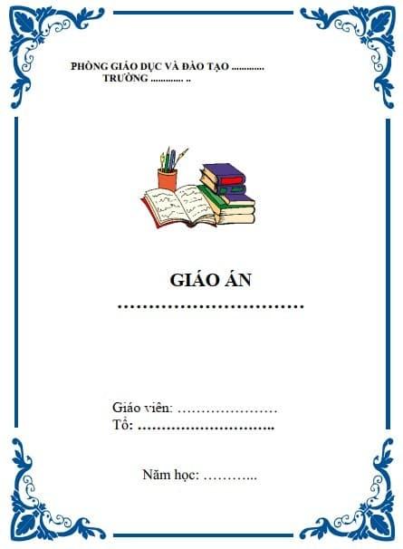 Mẫu bìa giáo án file word đẹp - ViecLamVui