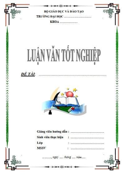 Mẫu bìa luận văn đẹp file Word - ViecLamVui