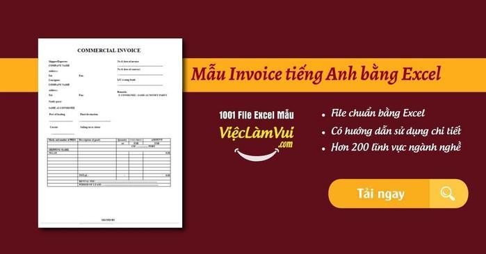 Mẫu invoice tiếng Anh - ViecLamVui