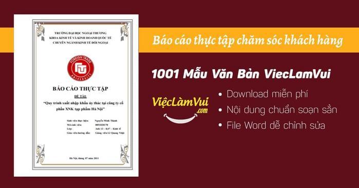Báo cáo thực tập giữa khóa FTU (Đại Học Ngoại Thương) - ViecLamVui