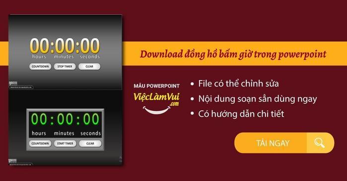 Download đồng hồ bấm giờ trong powerpoint - Vieclamvui
