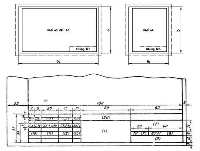 Tải mẫu khung tên bản vẽ, khung tên bản vẽ kỹ thuật, mẫu khung tên bản vẽ A4, khung tên bản vẽ A3, A2, khung tên bản vẽ A1, A0 tỉ lệ, kích thước chuẩn ✓ Khung tên bản vẽ dựng sẵn file Autocad tiện sử dụng làm khung tên trong bản vẽ kỹ thuật, khung tên bản vẽ xây dựng ✓ Download mẫu khung tên bản vẽ autocad hoàn toàn miễn phí